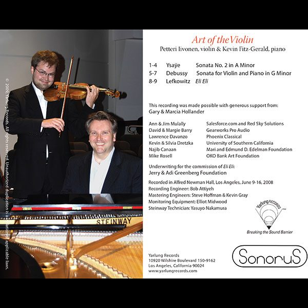 Petterri Iivonen   Art of the Violin   SonoruS