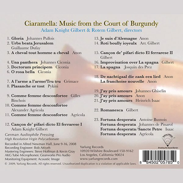 Ciaramella   Music From the Court of Burgandy
