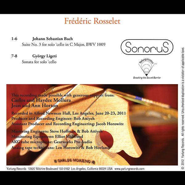 Frédéric Rosselet | Cello | Sonorus