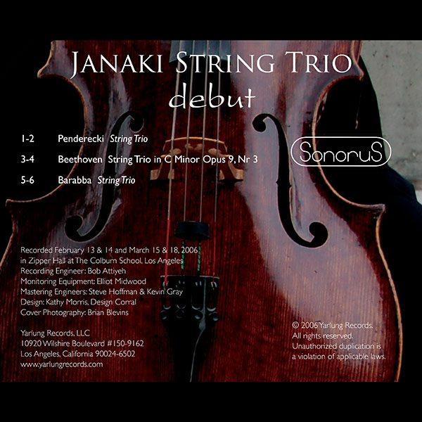 Janaki String Trio | Debut | Sonorus
