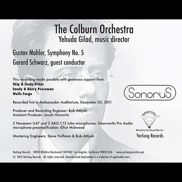 Mahler No. 5   Gerard Schwarz   Colburn   Sonorus
